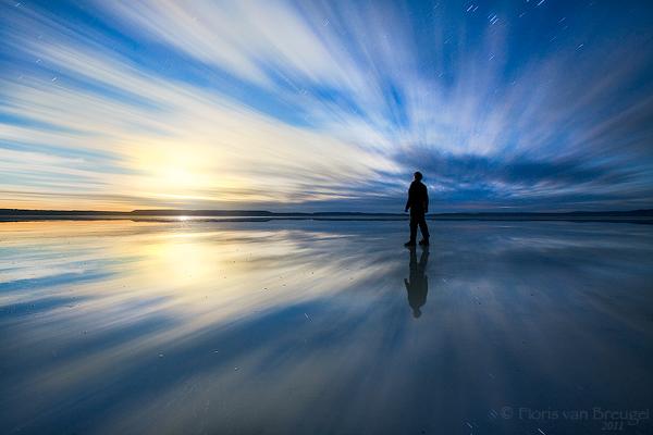 Man on beach