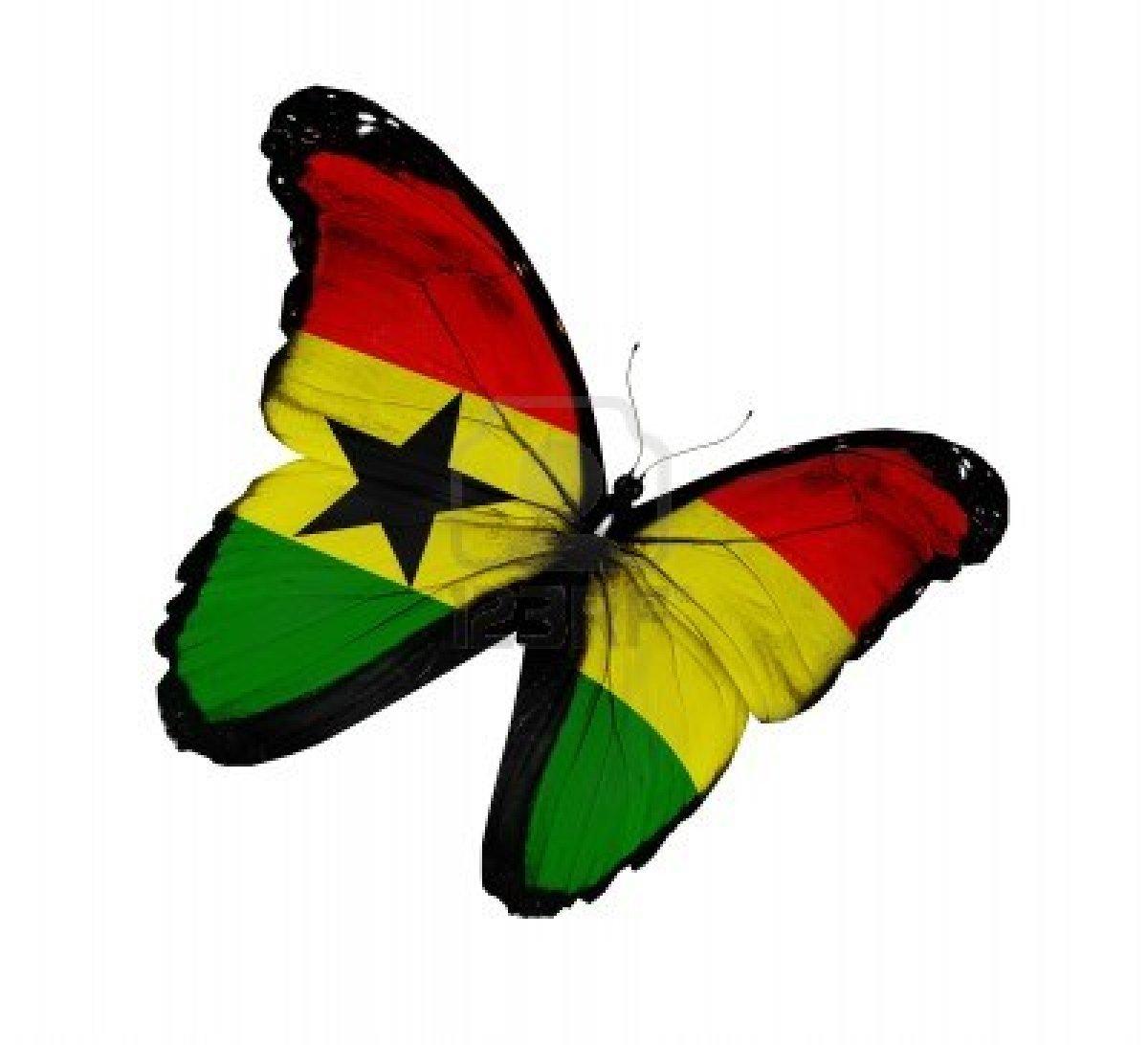 14675416-ghana-flag-butterfly-flying