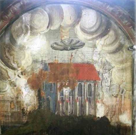 ufo ancient painting romania 16th century